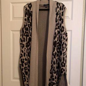 Lane Bryant leopard print cardigan sleeveless